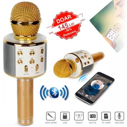 Microfon Profesional Karaoke Wireless Bluetooth