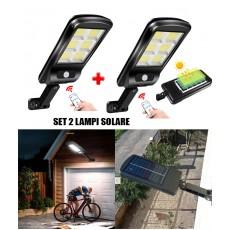 Set 2 Lampi Solare Tip Stradale Incarcare Solara Cu Telecomanda , Senzor Miscare
