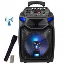 Boxa Troler A85 Bluetooth 100W, Radio, Card, USB , Aux + Microfon Wireless