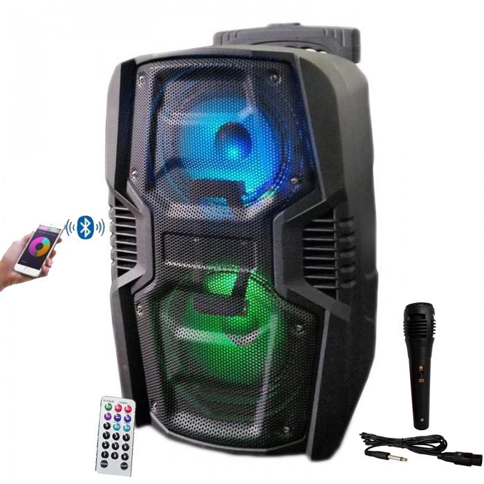 Boxa Troler A162 Bluetooth 100W, Radio, Card, USB , Aux + Microfon Wireless