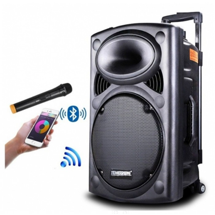 Boxa Activa 300W Bluetooth , Card, USB  + Microfon Wireless